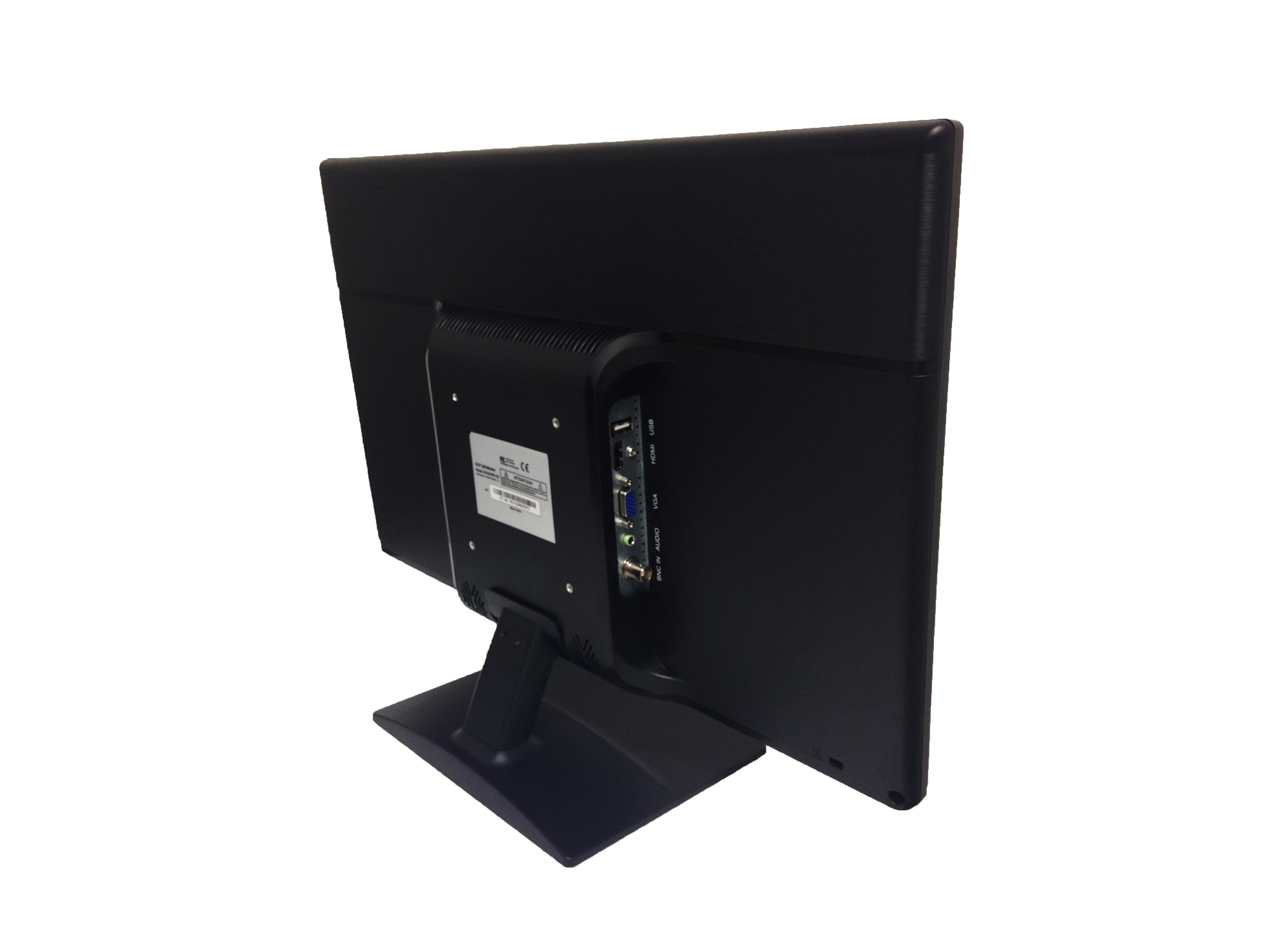 Avg19wbv 2d 185 Led Cctv Security Monitor Built In Speakers Back Side