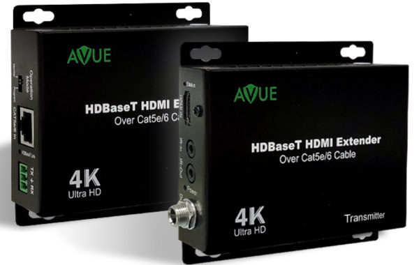 HDMI-EX250, AVUE 4K HDBaseT HDMI Extender, up to 250ft. for 1080P/ 150ft. for 4K